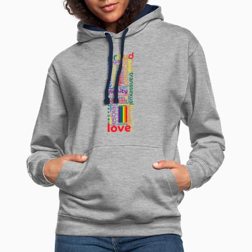 Pride Word Design - Contrast Colour Hoodie