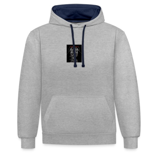 DARKNESS IS COMING LOGO gif - Contrast Colour Hoodie