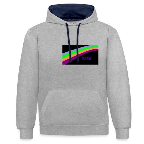 arc en ciel gpca noir png - Sweat-shirt contraste