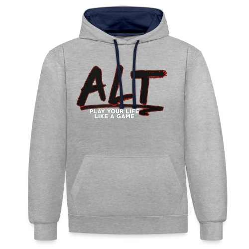 ALT Collection Special RED PLAY YOUR LIFE - Sweat-shirt contraste