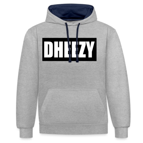 DHEEZY_logo_1 - Contrast Colour Hoodie