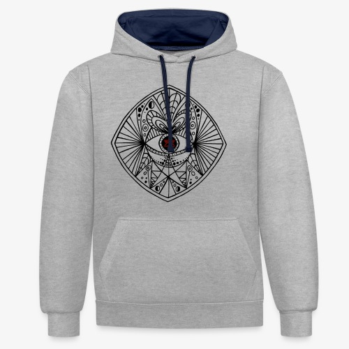 BEGONE EYE MANDALA - Sweat-shirt contraste