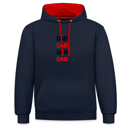 Dab - Contrast Colour Hoodie