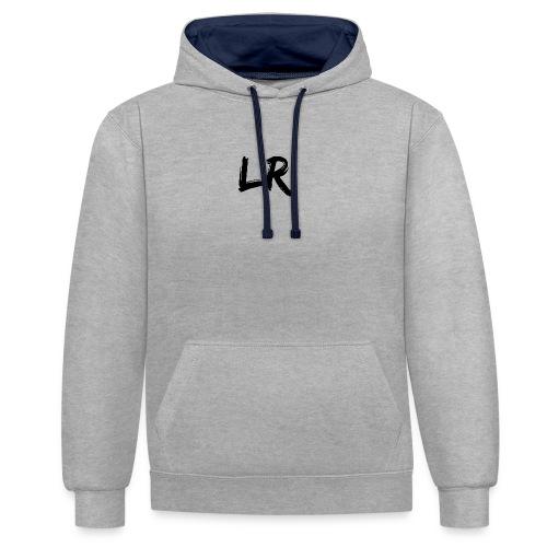 LiamRusso Logo Zwart - Contrast hoodie