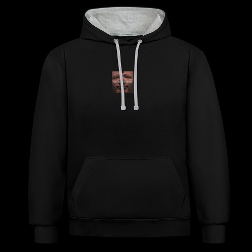 Why be a king when you can be a god - Contrast Colour Hoodie