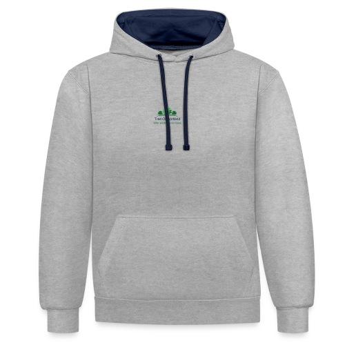TOS logo shirt - Contrast Colour Hoodie