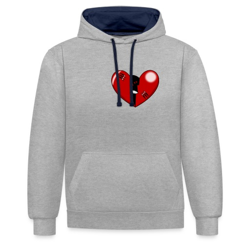 CORAZON1 - Contrast Colour Hoodie