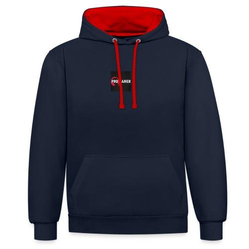 pro gamer magliette maglietta da uomo - Felpa con cappuccio bicromatica