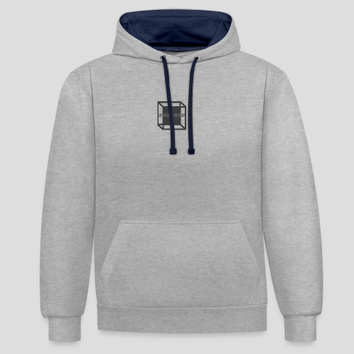 Squared Apparel Black / Gray Logo - Contrast Colour Hoodie