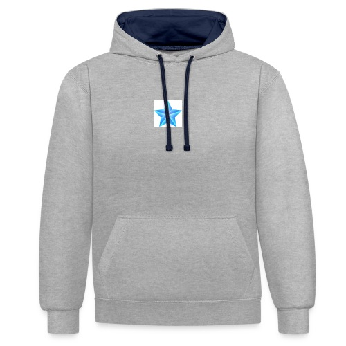 blue themed christmas star 0515 1012 0322 4634 SMU - Contrast Colour Hoodie