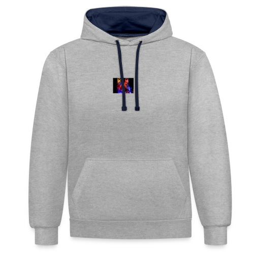 cool pictures - Contrast Colour Hoodie
