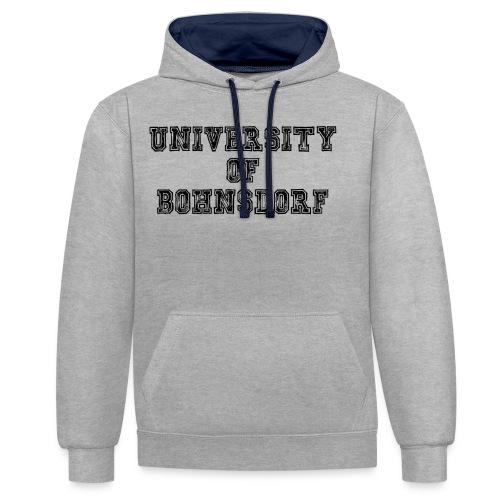 University of Bohnsdorf - Kontrast-Hoodie
