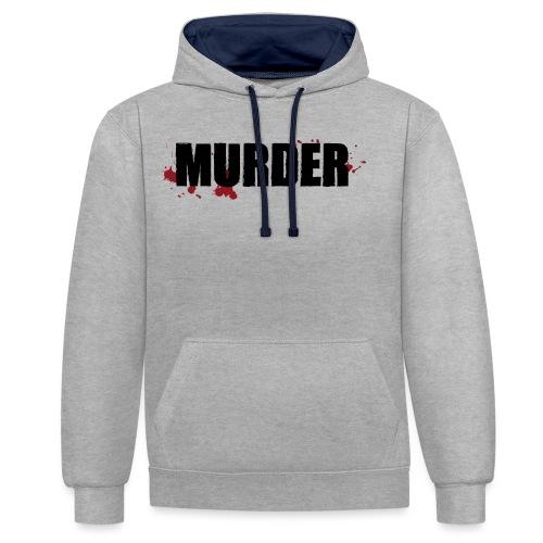 MURDER - Sweat-shirt contraste