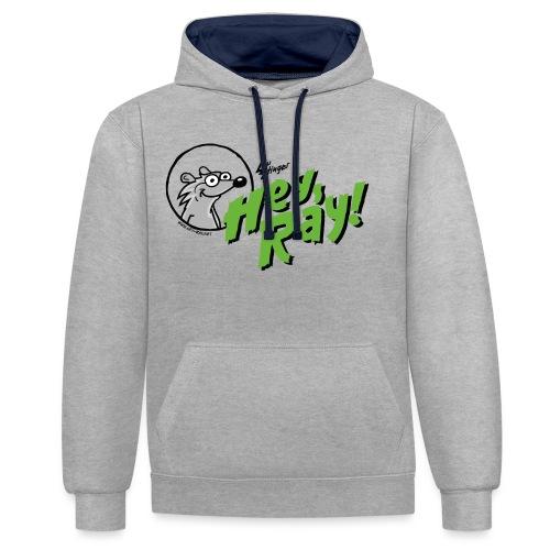 Hey Ray Logo green - Kontrast-Hoodie