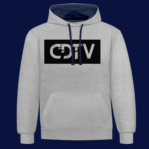 CDTV Box Logo - Contrast Colour Hoodie