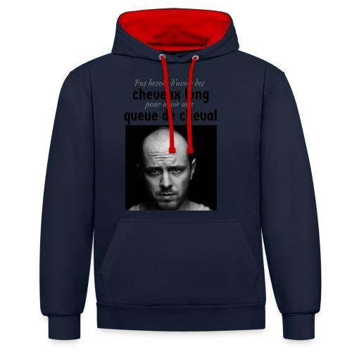 Humour Chauve ! - Sweat-shirt contraste