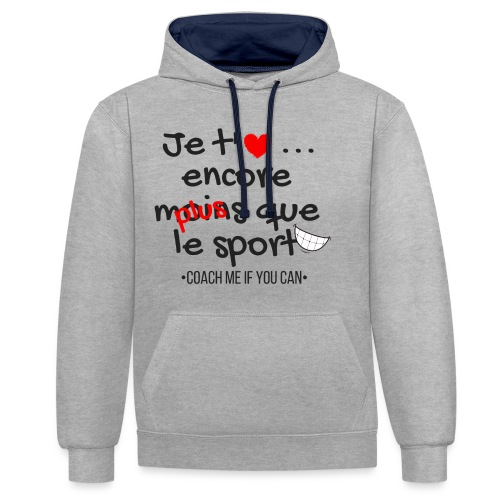 Saint Valentin - Sweat-shirt contraste