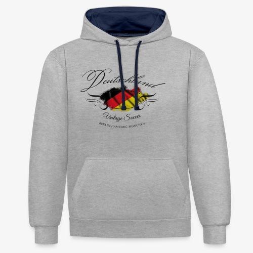 Vintage Deutschland - Kontrast-Hoodie