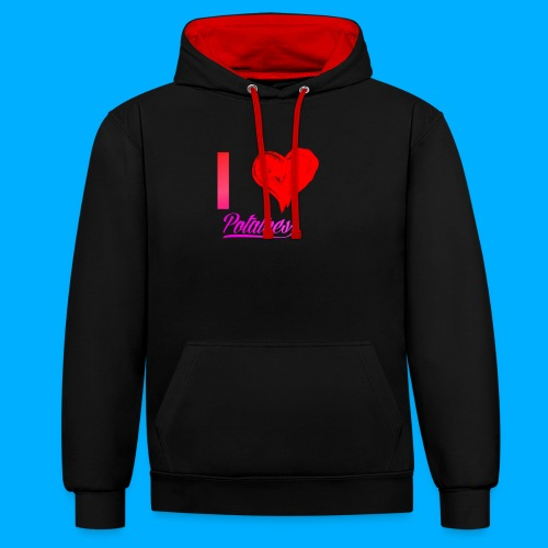 I Heart Potato T-Shirts - Contrast Colour Hoodie