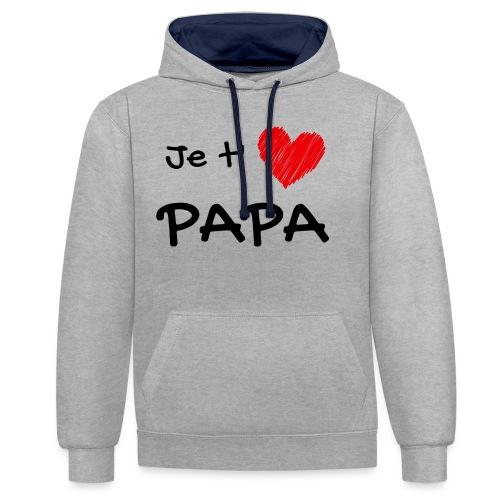 t-shirt fete des pères je t'aime papa - Sweat-shirt contraste