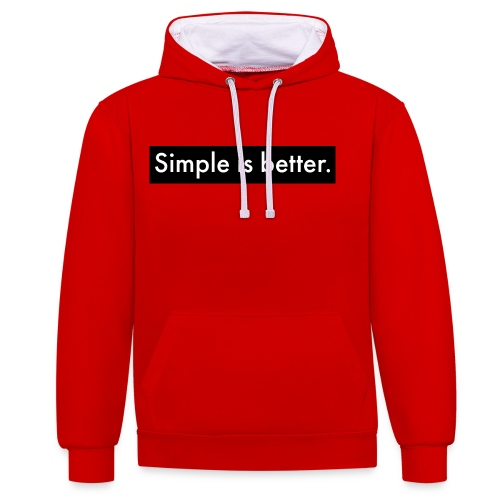 Simple Is Better - Contrast Colour Hoodie