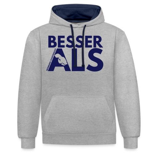 BesserAls - Kontrast-Hoodie