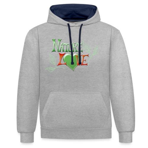 Nature Love - Kontrast-Hoodie