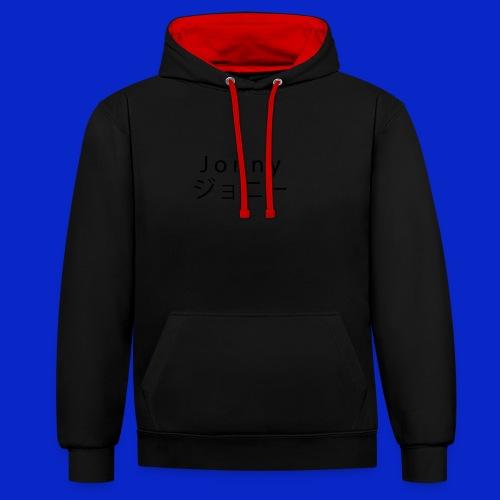 J o n n y (black) - Contrast Colour Hoodie