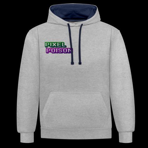 Pixel Poison Logo - Contrast Colour Hoodie