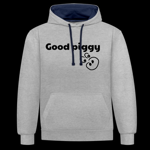 Good Pig - Contrast Colour Hoodie