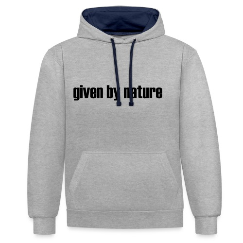 given by nature - Contrast Colour Hoodie