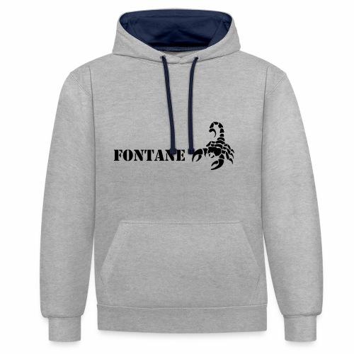 Fontane Scorpio - Contrast Colour Hoodie