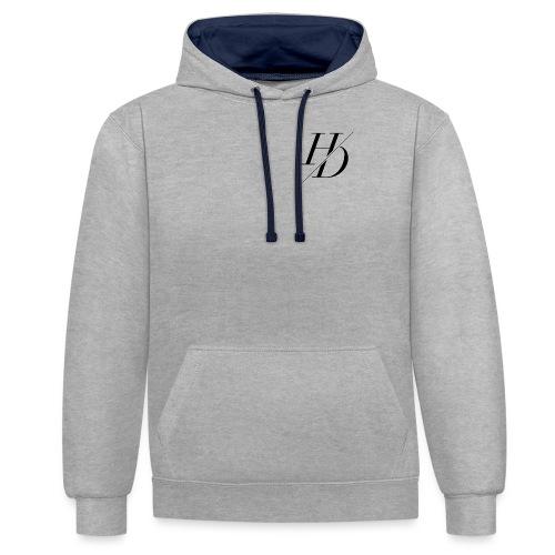H&D Logo - Kontrast-Hoodie