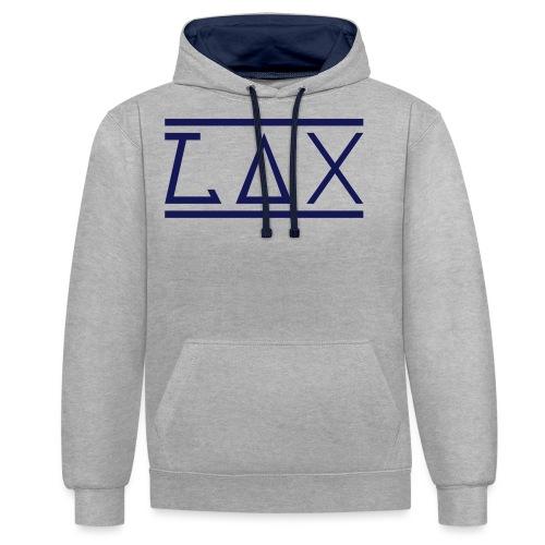 LAX-Logo1 - Kontrast-Hoodie