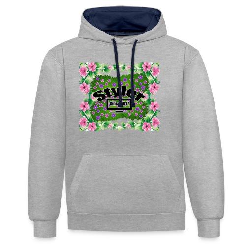 Styler Bloemen Design - Contrast hoodie