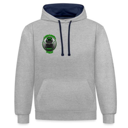 Assassinfrog logo 2 - Contrast Colour Hoodie