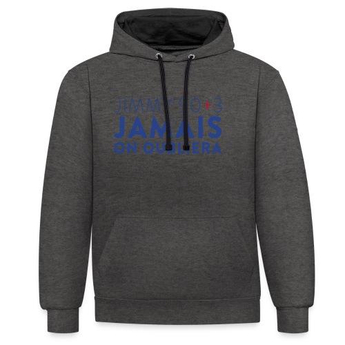 Jimmy 90+3 : Jamais on oubliera - Sweat-shirt contraste