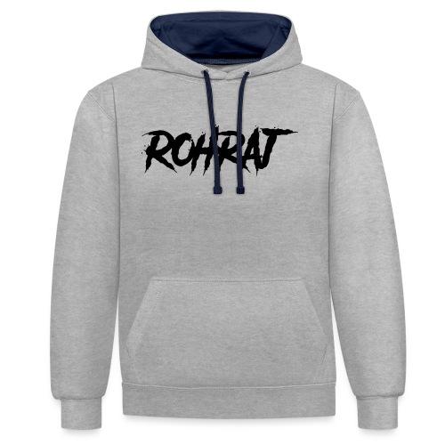 rohraj logo - Contrast Colour Hoodie