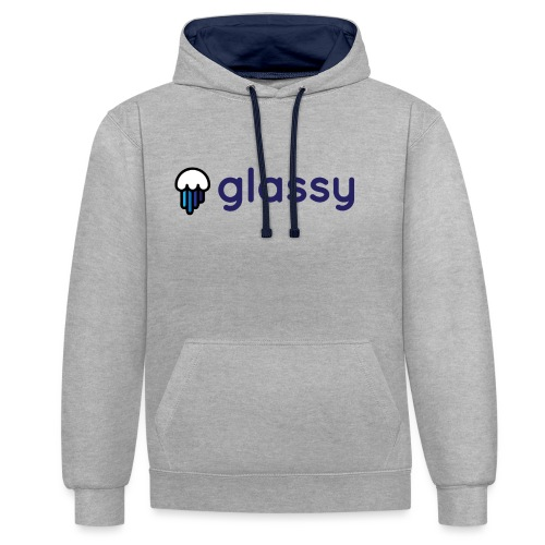 Glassy Unisex T shirt - Sudadera con capucha en contraste