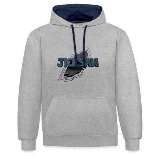 Jicksaw - Logo Merch - Kontrast-Hoodie
