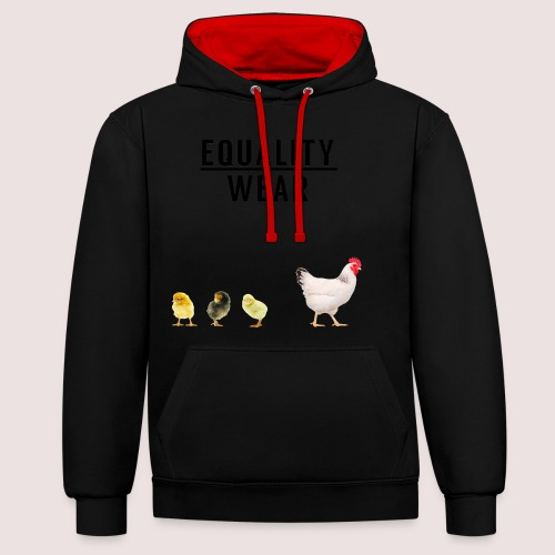 Small Chicken Edition - Contrast Colour Hoodie