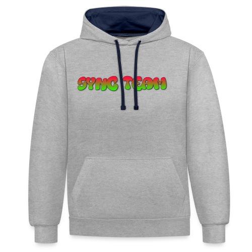 vêtement avec text SYNC TEAM - Sweat-shirt contraste