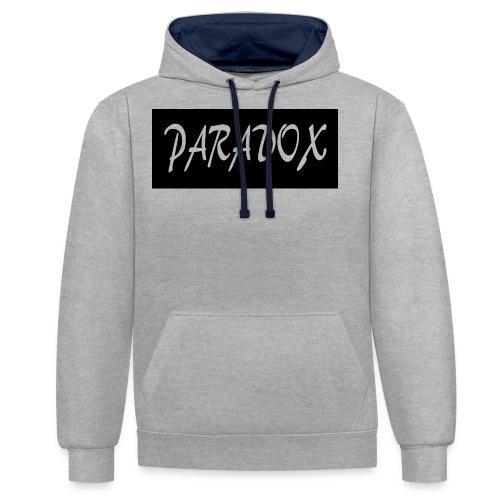 paradox games logo - Contrast Colour Hoodie