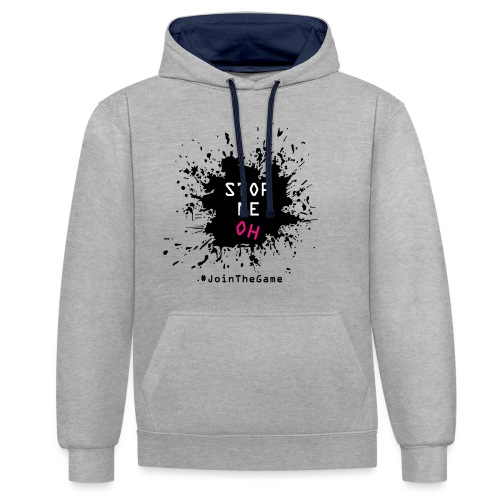 Stop me oh - Contrast Colour Hoodie