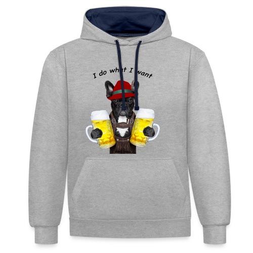 FrenchBulldog Barman - Sweat-shirt contraste