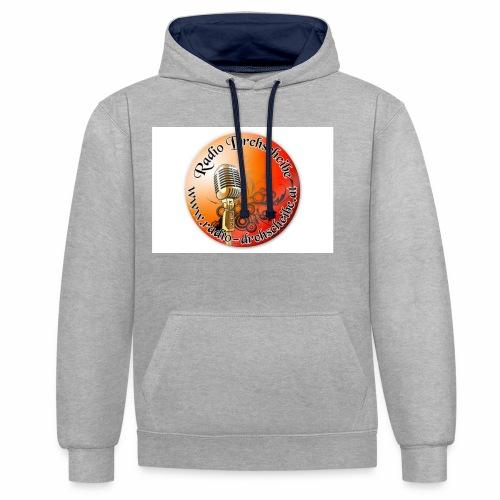 logo rds runt - Kontrast-Hoodie