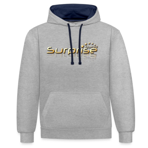 Surprise Band Logo Gold - Kontrast-Hoodie