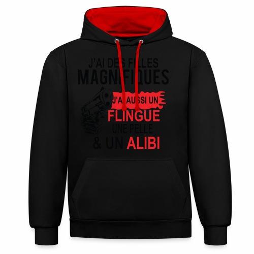 J'AI DEUX FILLES MAGNIFIQUES Best t-shirts 25% - Sweat-shirt contraste