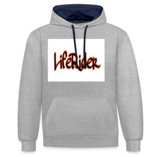 LifeRider - Kontrast-Hoodie