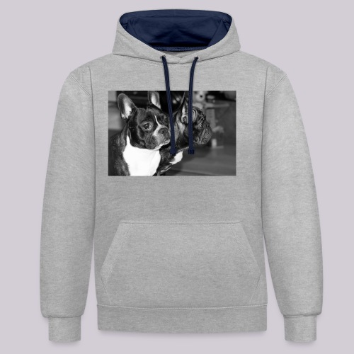 Frenchies - Contrast Colour Hoodie
